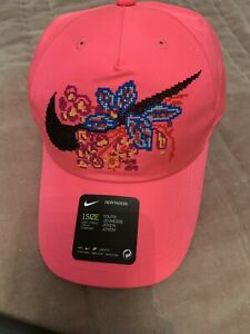 Nike Heritage 86 Floral Embroidery Hat CAP YOUTH ONE SIZE CI3722 010 NEW Genuine