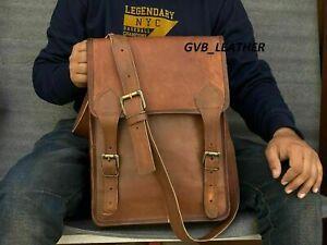 Genuine Leather Made By Hand Vintage Messenger Shoulder Satchel Crossbody Bag