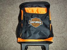 Harley Davidson Rolling Wheeled tote travel bag carry-on backpack + Tervis Cups
