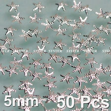 50 Pcs 3D Nail Art Decoration Sea Star Alloy Jewelry Glitter Rhinestone SG-166A