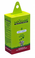 45 BEIGE DOG WASTE POOP BAGS & GREEN/BROWN POOP DISPENSER