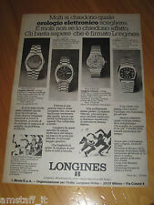 LONGINES WATCH OROLOGIO ULTRONIC=ANNO 1974=PUBBLICITA=ADVERTISING=