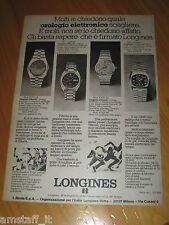 LONGINES WATCH OROLOGIO ULTRONIC=ANNO 1974=PUBBLICITA=ADVERTISING=