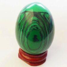 A0081598 Beautiful Man-made Malachite Egg 47x35mm Decoration