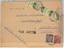 España - HISTORIA POSTAL: EDIFIL 672 tira de 4 sobre CARTA censura a SUIZA 1938