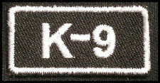 K-9 Iron-on Patch/Badge for Police Dog K9 Instructor Trainer T-Shirt Hat Cap 25P