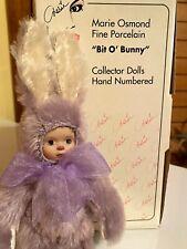 "Marie Osmond Nib ""Lovely Lilac"" Bit-O-Bunny collection Coa"
