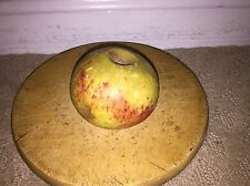 Early Antique Italian Alabaster Stone Fruit Marble Yellow Red Apple Marble NM+