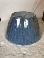 Prestigeline Lamp Shade Light Blue Fabric Mushroom-Pleated Clip-On Fitter
