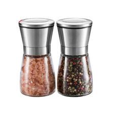 Salzmühle und Pfeffermühle 2er Set Keramikmahlwerk Glaskörper Neu