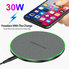 30W Qi Wireless Charger Fast Charging Pad Mat for iPhone 12 Pro 11 Samsung S21+