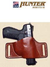 Leather Belt Slide Holster BERETTA 92 Chestnut Brown HUNTER OWB Small 1503