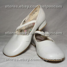 White Patent Leather Size 5 Woman's Dress Shoes for Church or Weddings