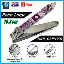 XL Nail Toe Clipper Cutter Trimmer File Bin Tool Manicure Pedicure Men Women