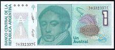 1985-89 ARGENTINA 1 AUSTRALE BANKNOTE * SERIES C * UNC * P-323 *