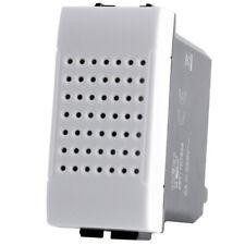 Ronzatore 1 Modulo T2 Bianco / Nero /Alluminio Compatibile Vimar Plana