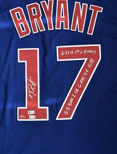 Kris Bryant Signed Jersey #17/17