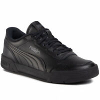 The Puma Junior Kids Boys Girls Caracal Black Trainers Shoes Uk Sizes 3.5/4/5/6