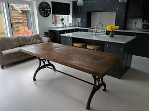 7ft Industrial oak dining table