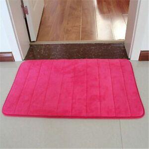 3Pcs/Set Memory Foam Bath Mat Modern Floor Anti-Slip Bathroom Rug Kitchen Carpet