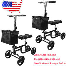 New Adjustable Foldable Medical Steerable Knee Walker Scooter Crutch Alternative