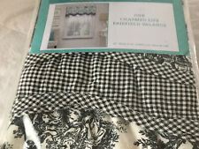 waverly valance Black Toile And Check