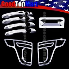 For Ford EXPLORER 2011-2015 Chrome Covers Set 4 Doors Smart+Tail Lights+Tailgate