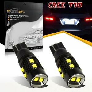 2x T10 W5W 921 2825 Backup Reverse LED light Cree 50W for Chevrolet 2005-2015