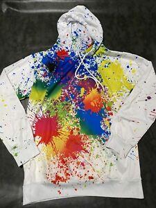 3D Printed Hoodie Paint Splatter Colorful