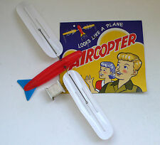 Vintage AIRCOPTER Plane Beach Wind Toy Turboplan Windspiel Card 2 1960's