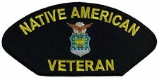 USAF AIR FORCE NATIVE AMERICAN VETERAN PATCH INDIAN INDIGENOUS MILITARY SERVICE