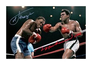 Thrilla in Manilla Ali & Frazier 3 A4 reproduction signed poster choice of frame