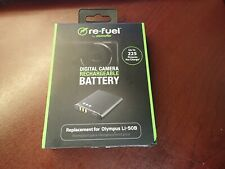 Lot of 2 - LI-50B  - Re-Fuel Rechargeable Lithium-Ion Battery Olympus RF-OL50