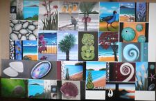 Paua Kina Flax Tui Hibiscus Maori Kiwiana NZ -24 Prints of my Original Paintings