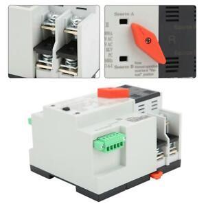 W2R-100 100A 2P Dual Power Automatic Transfer Switch AC220V Transfer Switch