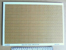 O gauge (1:48) scale) yellow roof tile paper - A4 sheet