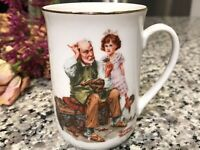"""Vintage 1982 Norman Rockwell Museum """"The Cobbler"""" Collectible Coffee Mug Tea Cup"""