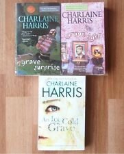 Charlaine Harris Lot of 3 Grave Series Harper Connelly Paranormal Mystery Books