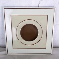 Vintage Retro Ceramic Tile Italy Circle Brown Beige Abstract Trivet