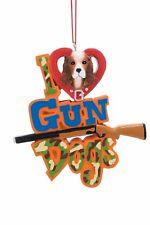 I Love Gun Dogs Christmas Ornament