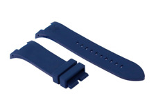 31 MM Unisex Blue Silicone Watch Strap Band For Armani Exchange AX Series L110