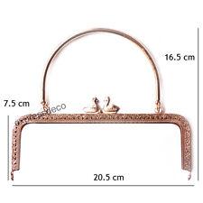 Fermoir pour Porte Monnaie Bourse Sac DIY Métal L20,5 cm Doré