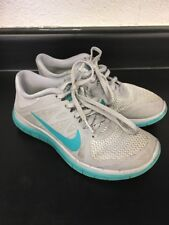 Womens Nike Free 4.0 Gray Teal Size 7.5 Running Athletic Shoes