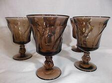 Vintage Jamestown Smokey Topaz Ice Tea Goblets 5 Goblets