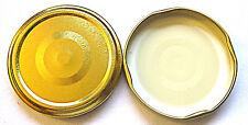 TWIST OFF - Einkochdeckel-Schraubglasdeckel TO 66; Alu gold; NEU (0,25€/Stück)