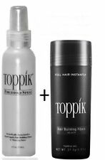 Combo Offer Newly Arrived Toppik 27.5g(black) +Toppik Hair Fiber Hold Spray118ml