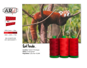 Aurifil 40WT Colour Builders Red Panda x 3 Spools