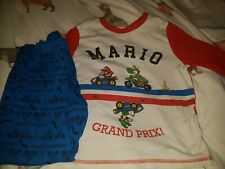 Boys Super Mario Kart Pyjamas. Age 7-8 Years. Long Sleeved & Long Legged.