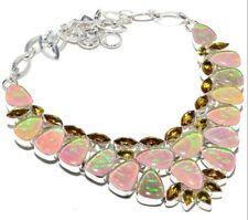 Australian Triplet Opal, Lemon Topaz 925 Sterling Silver Jewelry Necklace Gift