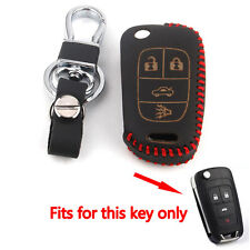 For Chevrolet Cruze Malibu Flip Folding Remote Key Holder Cover Case Fob 4BTNS